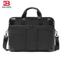 BALANG Brand Men S Business Black Crossbody Bags Large Capacity For 16inch Laptops Bags Oxford Waterproof