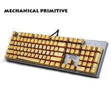 104 брелки PBT OEM высоко персонализированные просвечивающие металлические механические клавиатуры