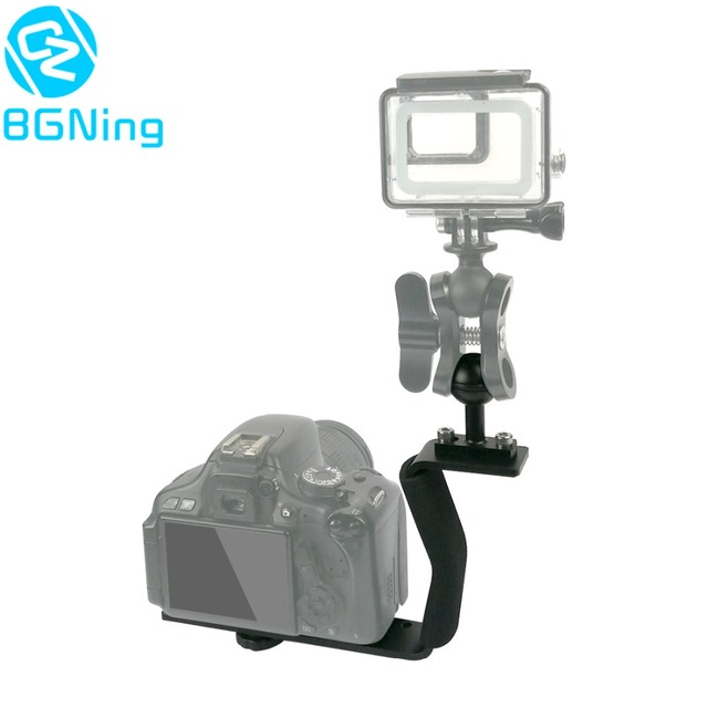 Diving Z Type Handle Mount with Base Adapter Lightweight SLR Sports Camera Single Handle Ball Support Extension Z Shape Bracket