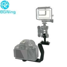 צלילה Z סוג ידית הר עם בסיס מתאם SLR קלות ספורט מצלמה אחת ידית כדור תמיכה הארכת Z צורת סוגר
