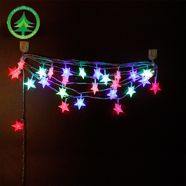 5m christmas light star lantern string christmas lights led light string pendant 28 color string lights
