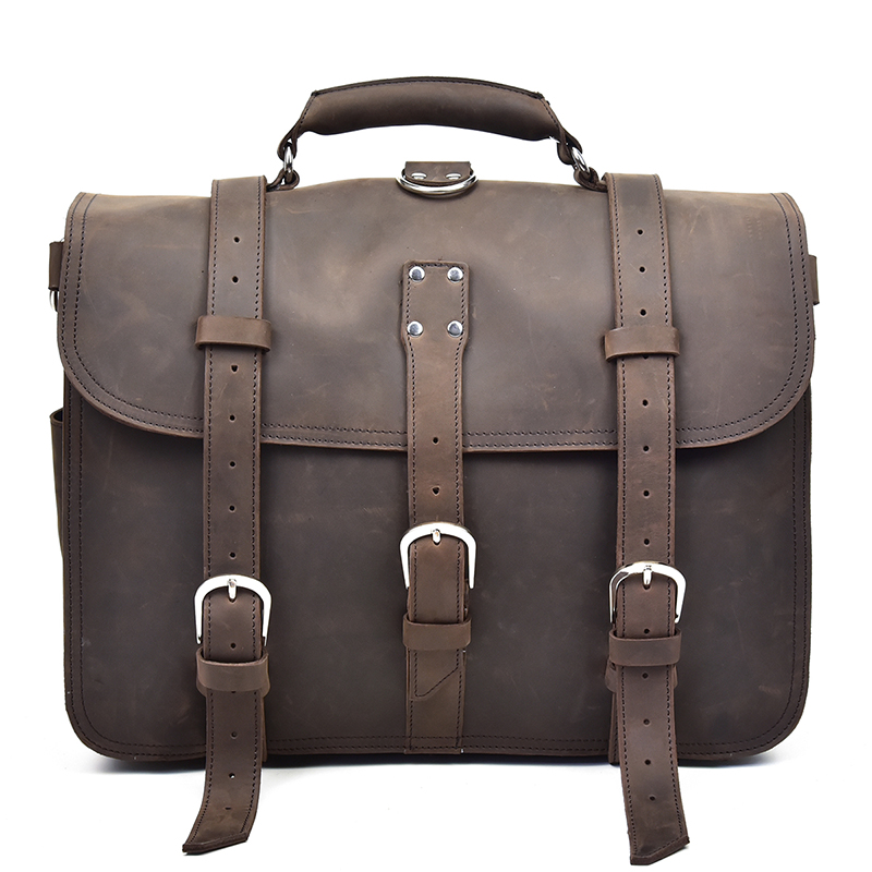 MAHEU Big Capacity Men's Backpack Square Hasp Travelling Backpacks 3 In 1 Functional Bags With Notebook Interlayer Real Leather