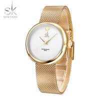 2017 SK Brand New Elegant Fashion Quartz Watch Women Dress Watches Reloj Mujer Luxury Gold Crystal