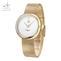 2017 SK Brand New Elegant Fashion Quartz Watch Women Dress Watches Reloj Mujer Luxury Gold Crystal