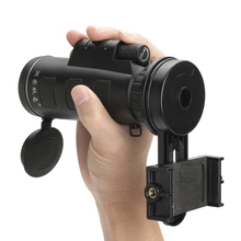 Cheaper Telescope Monocular 10X40 Zoom Phone Camera Lens with Phone Holder Hiking Concert Universal for Samsung Smart Mobile Phones
