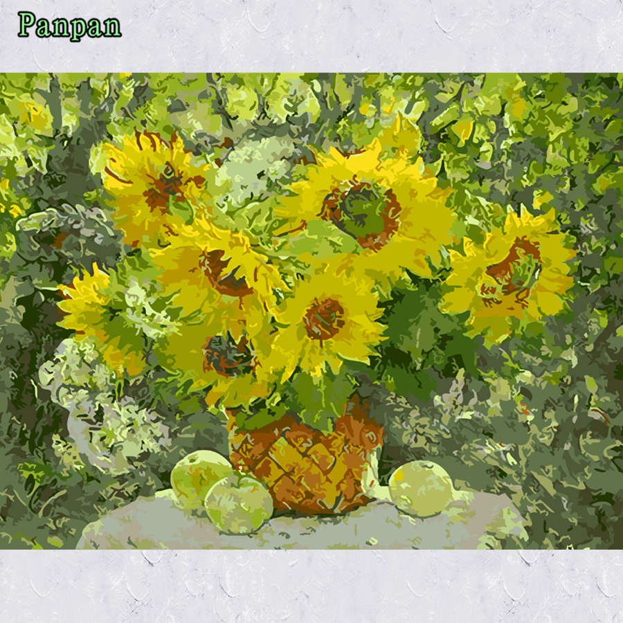 New Frameless Pictures Diy Oil Painting By Numbers Coloring Kits