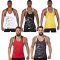 Mens GymShark Titan Stringers Fitness Vest Tanks Gorilla Bodybuilding Workout Tank Tops Cotton Undershirt Big Size
