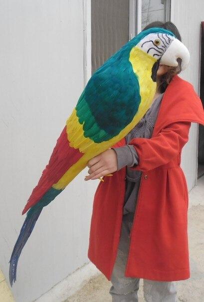 Mousse et plumes perroquet oiseau énorme 120 cm plumes colorées perroquet oiseau modèle prop. garden, fête décoration cadeau w0750