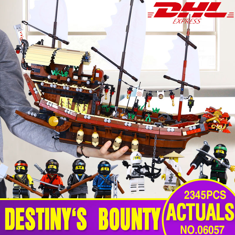 Lepin 06057 Genuine Ship Series The Destiny`s Bounty Set legoing 70618 Building Blocks Bricks Educational Toys As Birthday Gift