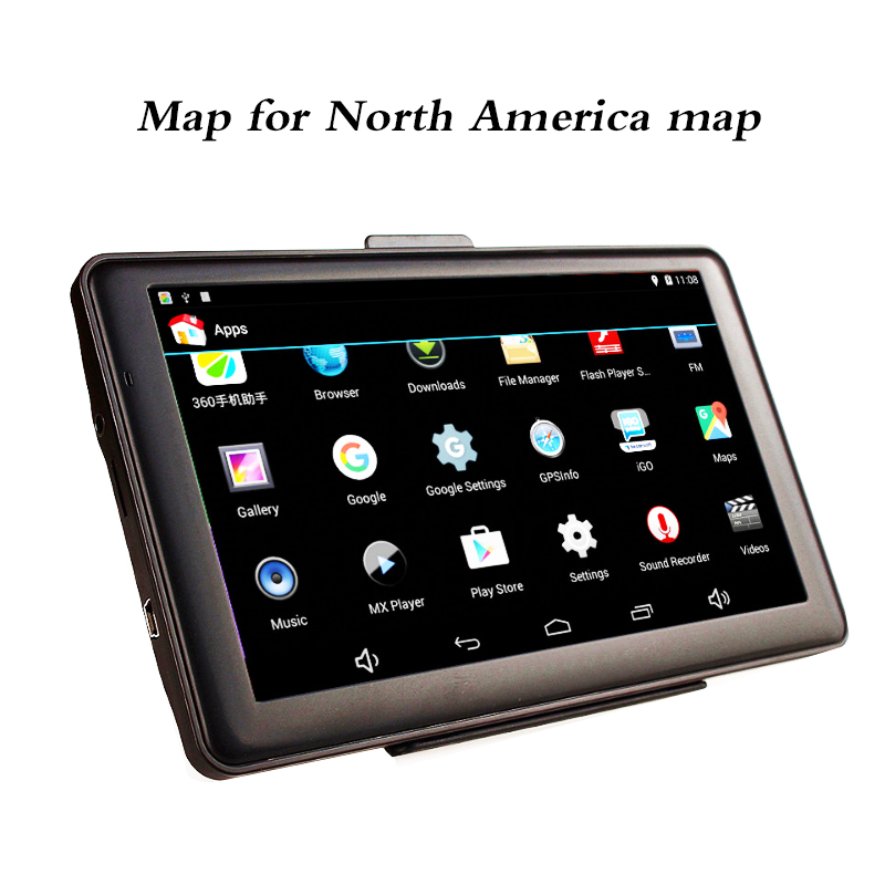 Multiple Languages 7 Touch Screen North America Map Autos GPS Navigator Wifi Bluetooth ultra thin 7 touch screen lcd wince 6 0 gps navigator w fm internal 4gb america map light blue
