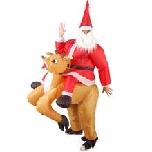 цена на 328Carnival Costume Santa snowman Clown Reindeer Inflatable Costumes  Christmas Funny Party Dress Costume