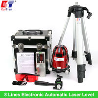Rotary 8 Lines 4v4h1d Auto Self Laser Level Cross Line Laser Level Laser Angle Level Oblique