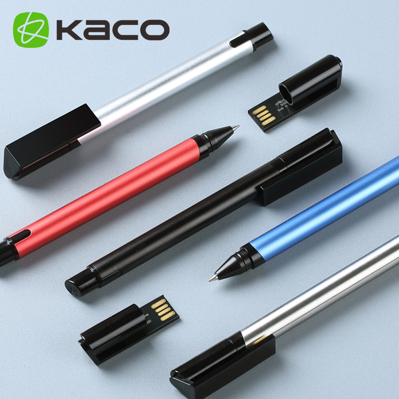 Creative KACO CYBER Dual Purpose Rollerball Pen with 16G USB Metal Gift Ballpoint Pens for Student School & Office Supplies 1pc kaco cyber dual purpose rollerball pen with 16g usb disk creative metal gift pens for student school and office supplies