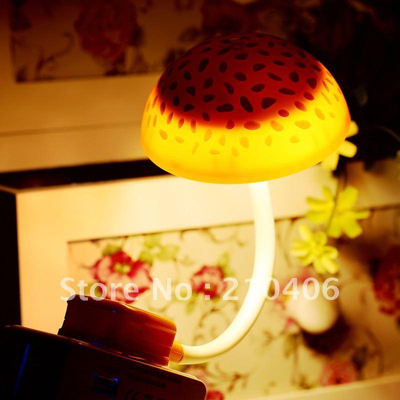 ФОТО Cottage induction lamp led mushroom lamp bed-lighting small night light plug photoswitchable