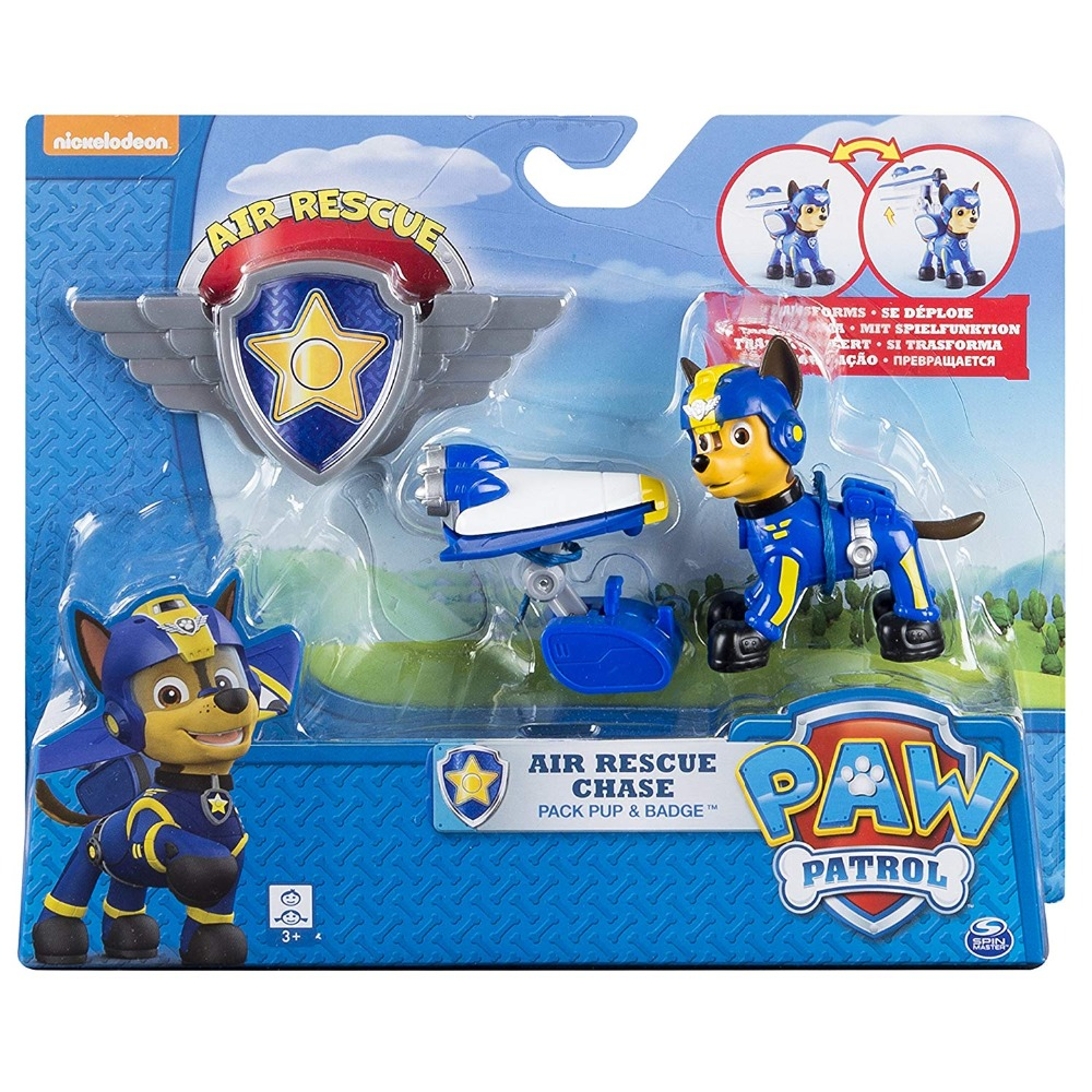 genuine paw patrol paw patrol air rescue chase pup pack. Black Bedroom Furniture Sets. Home Design Ideas