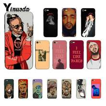 Yinuoda Hip hop Rapper Nipsey Hussle ASAP Kanye West Phone Case for iPhone 8 7 6 6S 6Plus 5 5S SE XR X XS MAX 11 pro max(China)