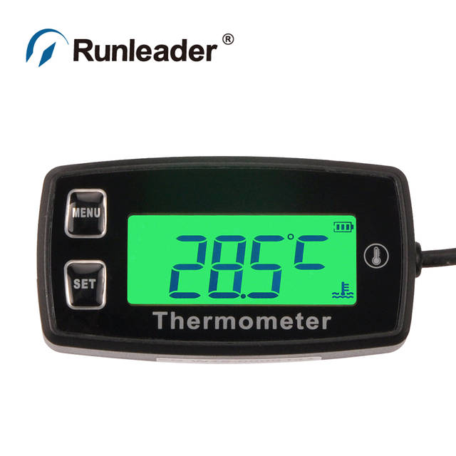 Digital TEMP METER thermometer temperature meter + RL-TS003 PT100 -20 +300 sensor for motorcycle pit bike buggy ATV engine water