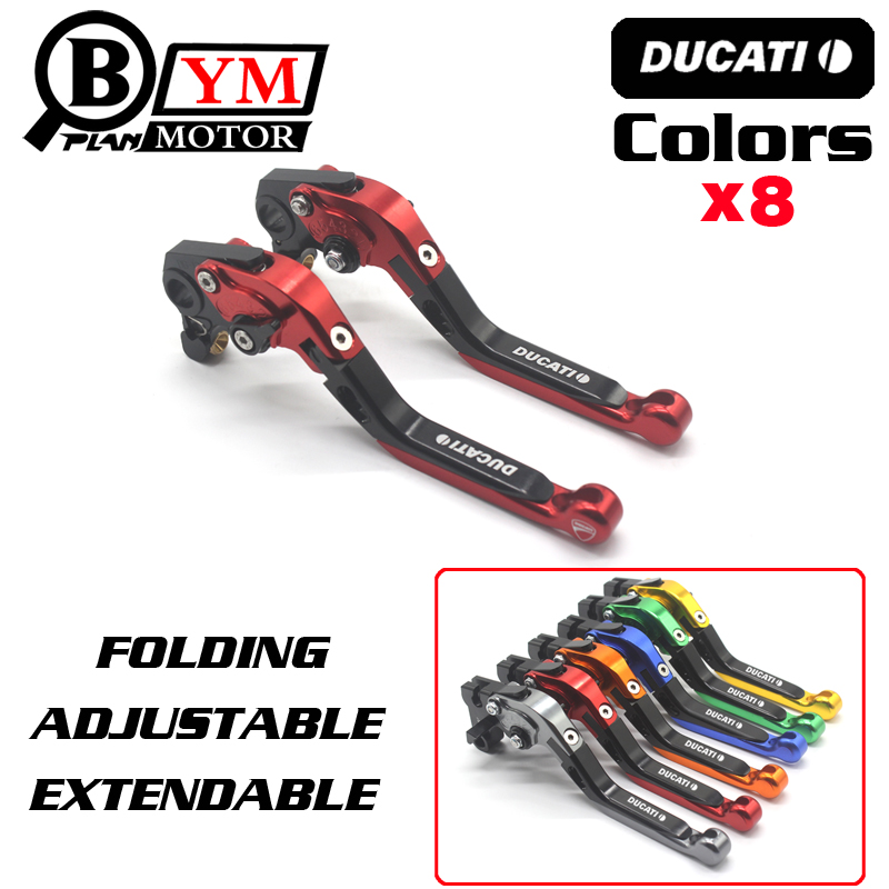 2017 NEW Two Colors(black and red) Motorcycle Brake Clutch Levers For DUCATI MONSTER 821 HYPERMOTARD 821 / Strada Accessories цены онлайн