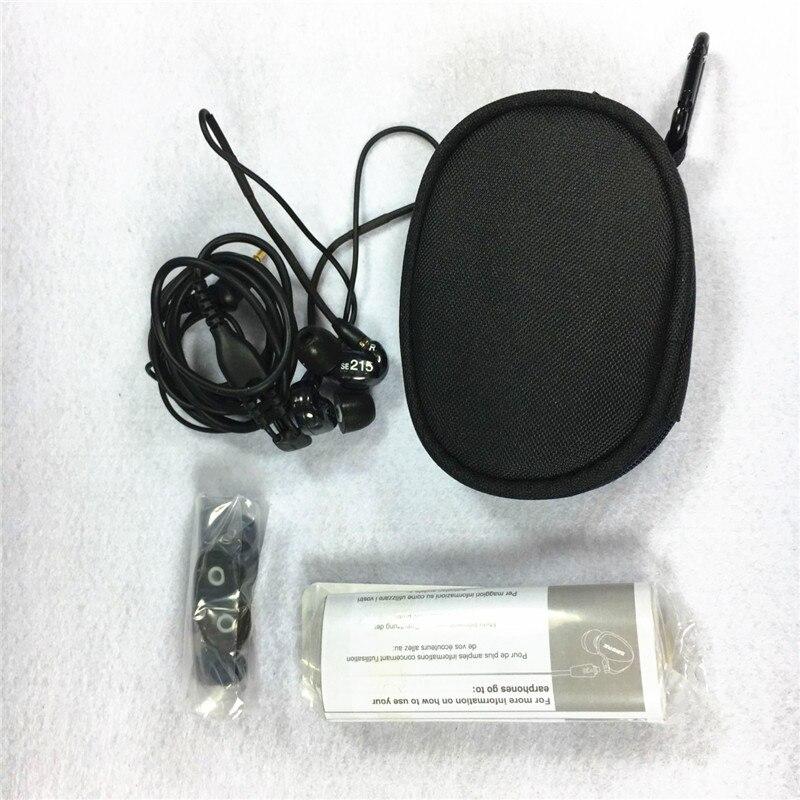 В наличии! Высокое качество SE215 Hi-Fi стерео гарнитура Шум отмены 3.5 мм в наушники-вкладыши отдельный кабель гарнитуры с коробкой