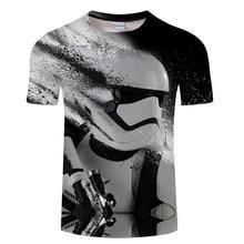 New Harajuku t shirts Yoda Darth Vader Star Wars printed 3d t shirt men women tshirt
