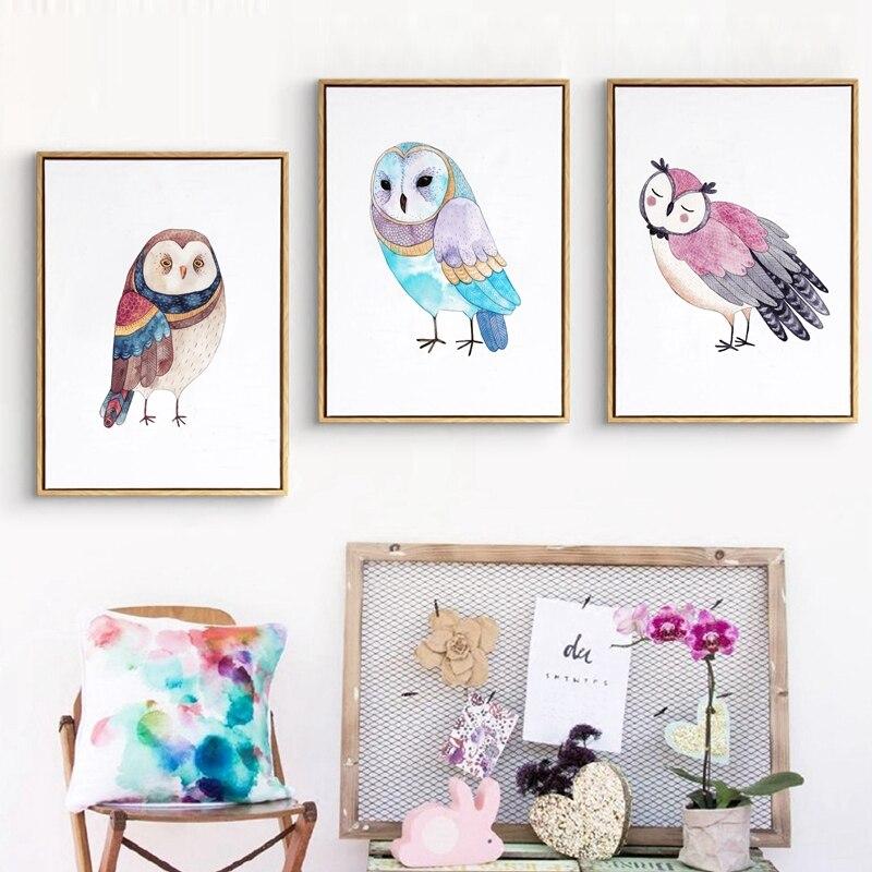 Постеры в детскую сова