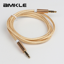 Amkle 3.5mm Male to Male AUX Cable for iPhone 6 6S Car MP3 MP4 Headphone Speaker AUX Cable 3.5 mm Jack Audio Cable 1m