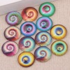 Onwear 100pcs Mix Swirl Photo Round Dome Jewelry Glass Cabochons 10mm 12mm Diy Earrings Making Findings