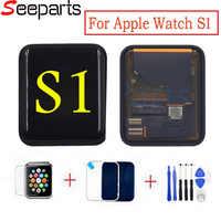 Pour Apple Watch série 1 LCD 42mm LCD écran tactile numériseur remplacement pour Apple Watch série 38mm LCD + verre trempé