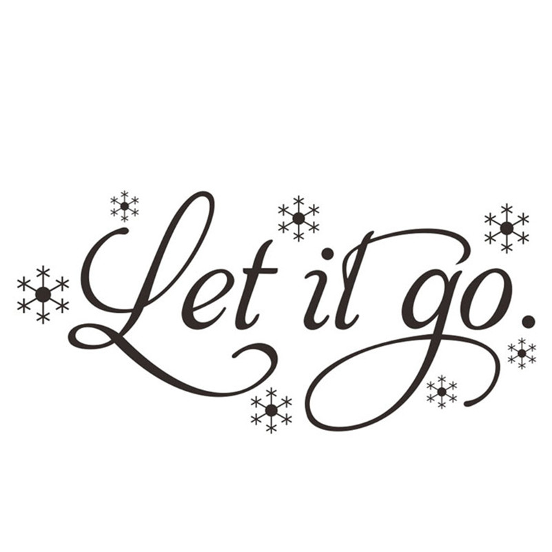 New DIY Wall Stickers Let It Go Kids Room Snow Vinyl Frozen Wall Sticker Home Wall Words Decor