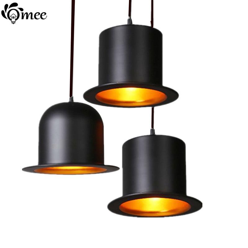 Modern Jazz Top Hat Pendant Lamp Dining Room Jeeves / Wooster Pendant  Lights Outside Black Inner Golden Ac110v 220v LED Lighting In Pendant  Lights From ...