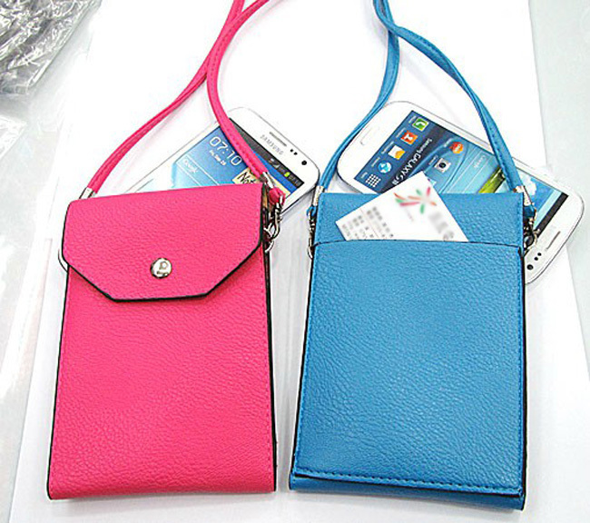 the latest b479f 5233b US $4.28 5% OFF|New Stylish halter neck rope cell phone pouch for phone  below 5.5