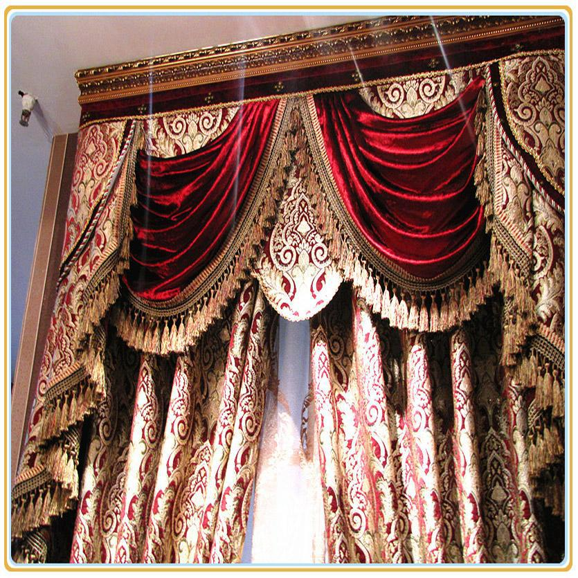 Burgundy Wine Custom Free Shipping Hotel Curtains Classic Royal