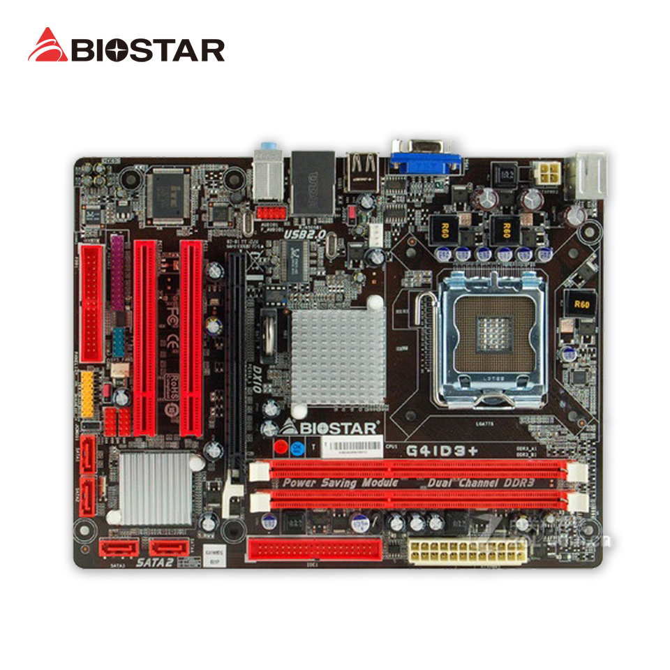 BIOSTAR G41D3+ 6.x Original Used Desktop Motherboard G41 LGA 775 DDR3 8G SATA2 USB2.0 Micro ATX used original for biostar hi fi a85s2 fm2 motherboard for amd a85 usb3 0 sata3 motherboard