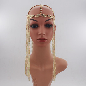 Image 2 - Женские аксессуары для волос в стиле панк, длинные аксессуары для волос с кисточками, вечерние тиары на лбу, Новое поступление