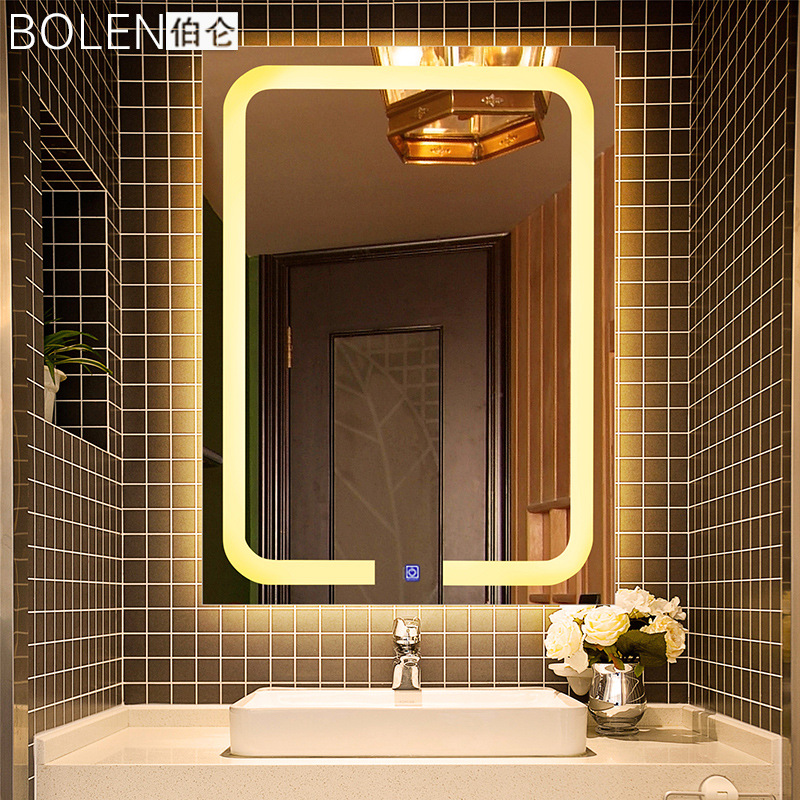 Waterproof Bathroom Light Switch: High End Modern Waterproof Antifog Led Light Mirror With