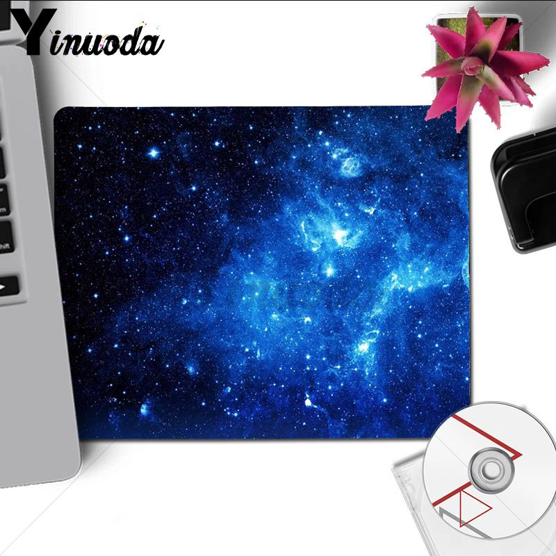 Yinuoda New Printed Space Colors Blue Purple Stars Gaming Player desk laptop Rubber Mouse Mat large desk mat for dota 2 lol