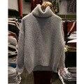 New Korean Mink Cashmere Sweater Women Pullover Fashion Turtleneck Sweater Women's Knitwear Winter Long Sleeve Knitted Sweaters
