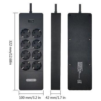 NTONPOWER Multi-Plug Power Strip EU Protector contra surtos de cabo de extensão com USB Plug elétrico Economizador de energia para casa e escritório 1