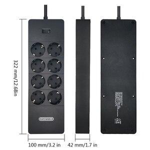 Image 2 - NTONPOWER Tira de alimentación de varios enchufes, cable de extensión europeo, Protector de sobretensión con enchufes con enchufe eléctrico USB, ahorrador de energía para el hogar y la Oficina