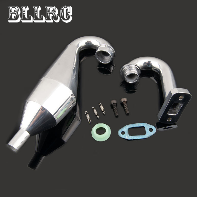 New Aluminum Tuned Exhaust Pipe 1/5 Baja Replacement Parts For RC Redcat Rampage MT HSP SHELETON Monster Truck Gasoline Power