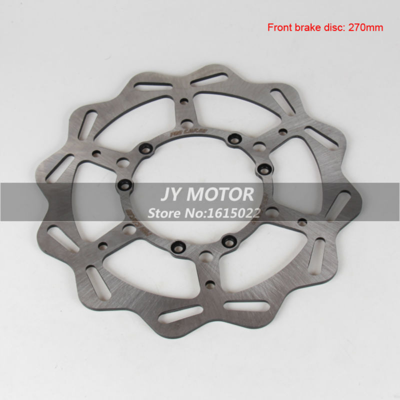 ФОТО 270MM Front Wavy Brake Disc Rotor For CR125 CR250 CRF250R CRF250X CRF450R CRF450X CRF230F CR500 Motocross Enduro Racing