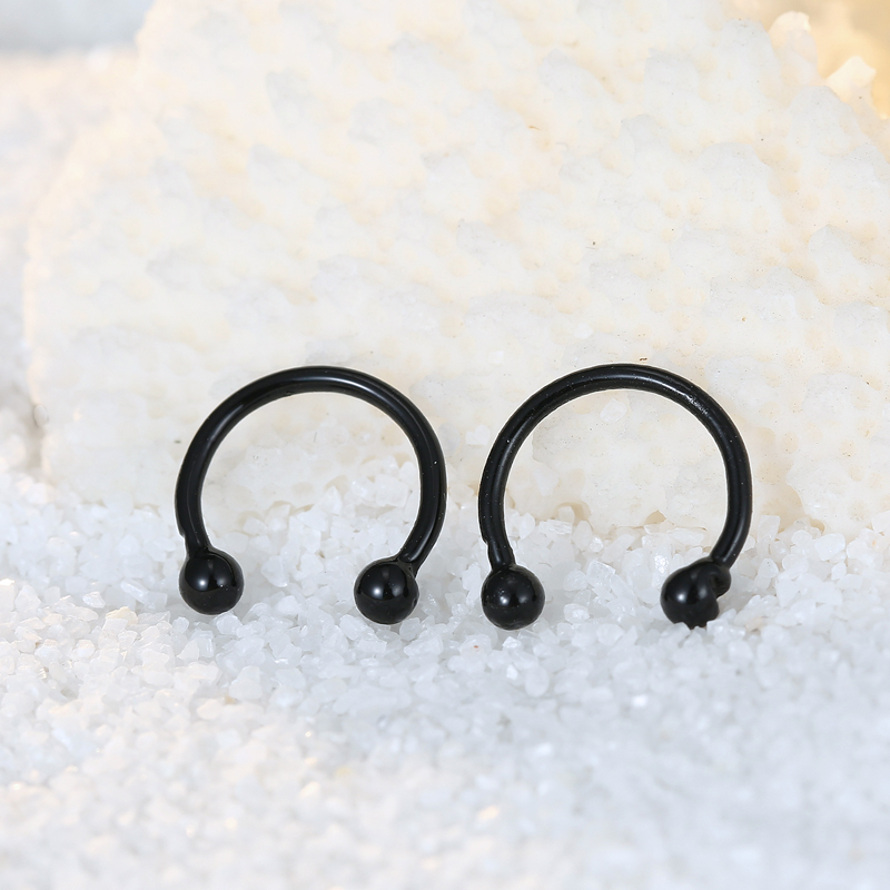 Boho C Shape Open Simple Earrings Handmade Silver Color Punk Wire ...