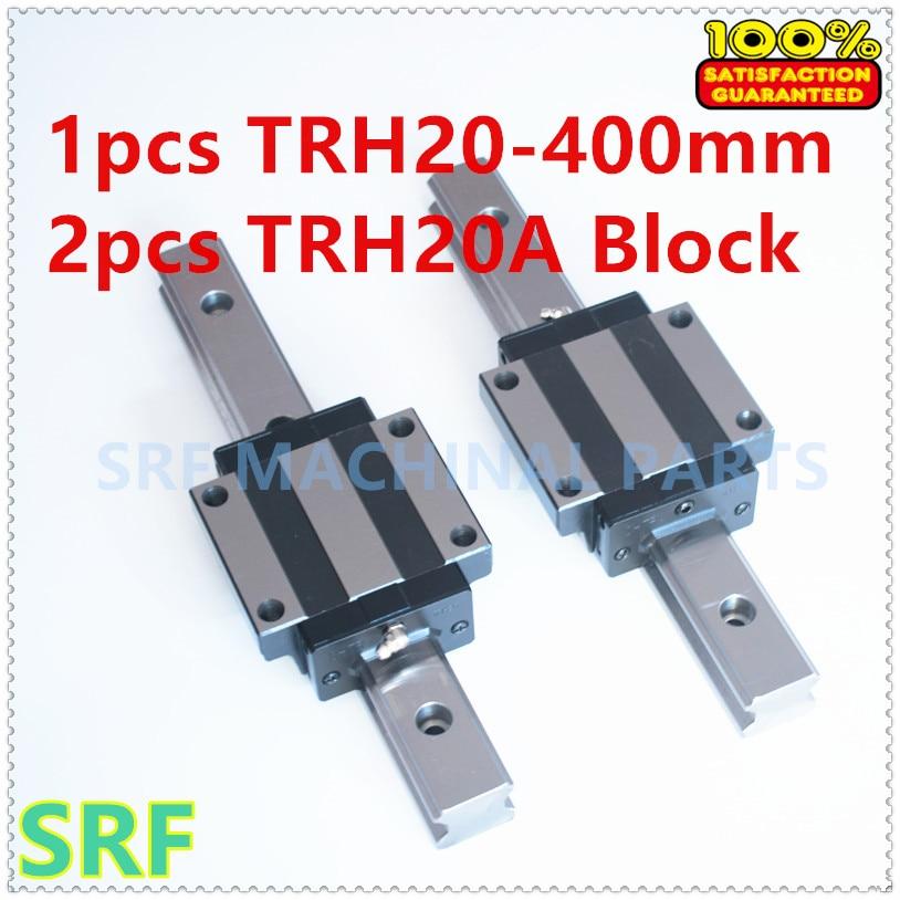 High quality 1pcs  Linear guide rail TRH20 L=400mm Linear rail + 2pcs TRH20A Flange block for CNC high precision 1pcs linear guide 20mm trh20 l 1000mm linear rail 2pcs trh20b slider block bearing linear guide rail for cnc