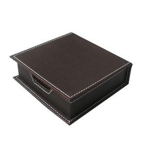 Image 4 - אי פעם מושלם 6 יח\סט עור מפוצל שולחן סט מארגן שולחן כתיבה תיבת 5 תאים מחזיק עט עכבר Pad הערה מקרה שם כרטיס