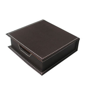 Image 4 - Ever Perfect 6Pcs/Set PU Leather Desk Set Stationery Desk Organizer Box 5 Compartments Pen Holder Mouse Pad Note Case Name Card