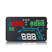 Universal NEW Q7 5.5 Multi Color Auto Car HUD GPS Head Up Display Speedometers Overspeed Warning Dashboard Windshield Projector