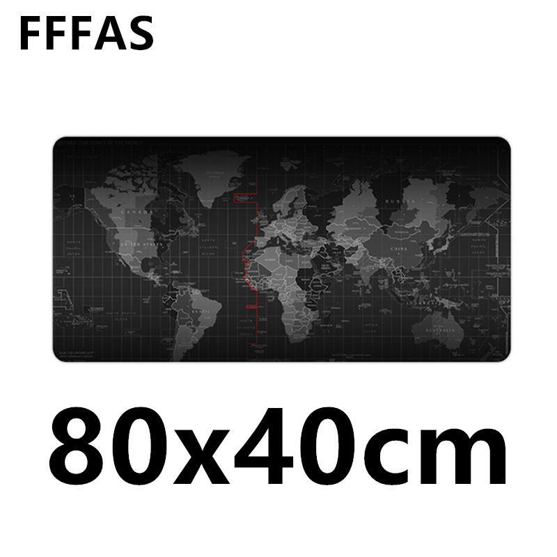 FFFAS 80cm X 40cm Super Big Desk Cushion Table Keyboard Mat Protector Extended Mousepad Game Gamer Gaming World Map XL Mouse Pad цена