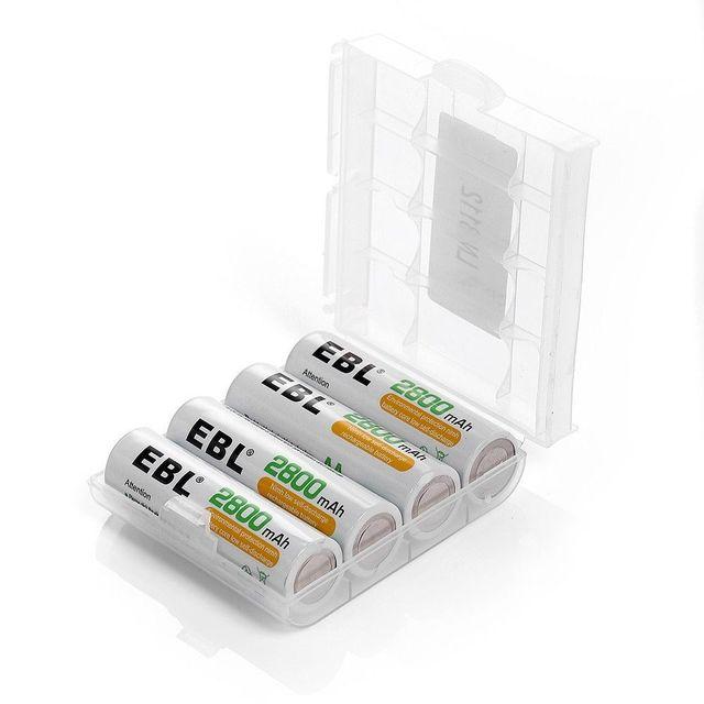 8pcs/lot EBL 2800mAh AA Rechargeable Battery + Battery Charger for AA AAA NI-MH NI-CD Battery US Plug free shipping