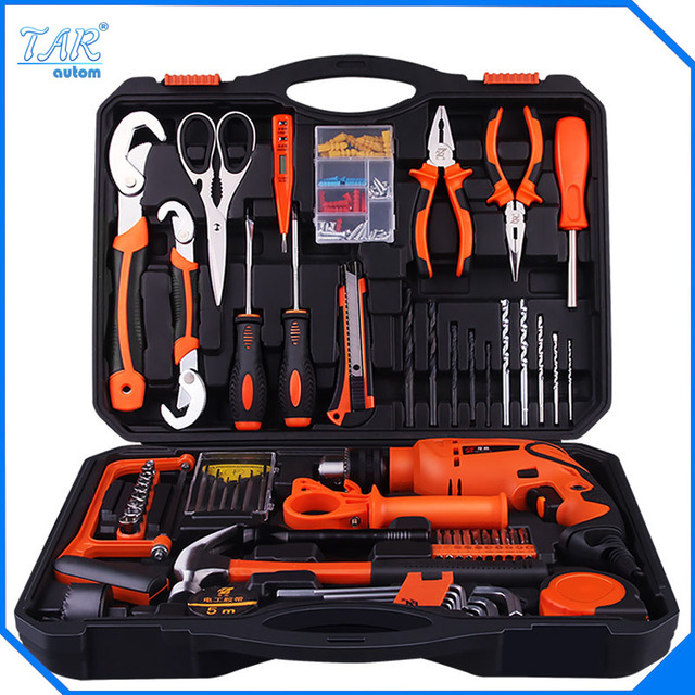 Hot Sales High Quality Electric Drill Impact Drill  Hand Tools Power Tools Drill set family electric toolbox set Group set tool
