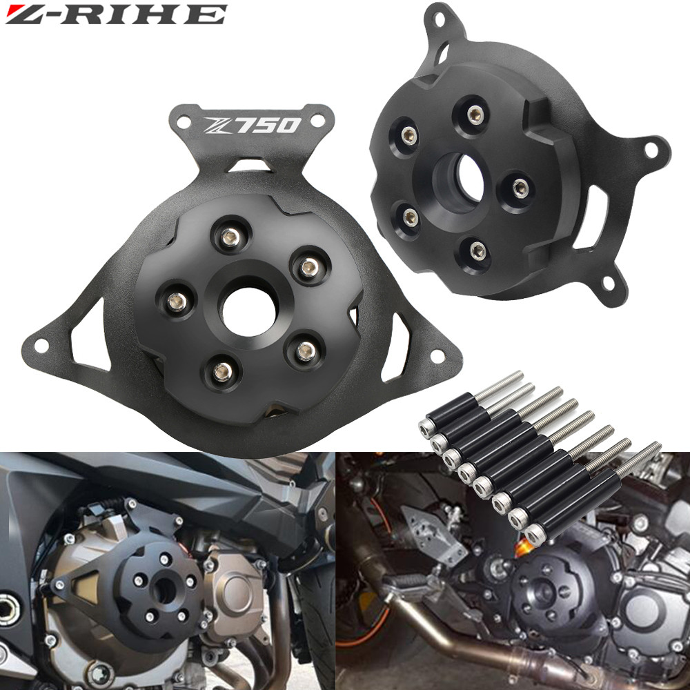 for Z 750 logo Motorcycle Engine Stator Cover Engine Guard Protection Side Shield Protector For Kawasaki Z750 Z800 2013-2016 motorcycle cnc right side engine stator cover guard clutch protector guard for kawasaki z125 2015 2016 2017 z 125 moto accessory